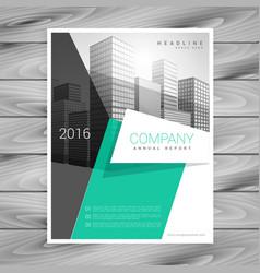 minimal elegant business brochure design template vector image