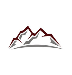 Mountain logo design template vector