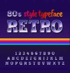 Original label typeface named retro vector