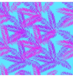 Pink blue and purple palm seamless pattern vector image