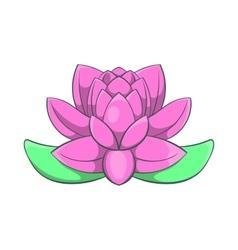 Pink lotus flower icon cartoon style vector image
