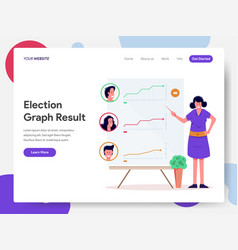 politics election graph result vector image