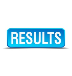 Results blue 3d realistic square isolated button vector image