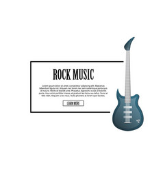 rock music poster with classic acoustic guitar vector image