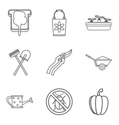 sandwich icons set outline style vector image