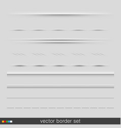 set dividers isolated on grey background vector image