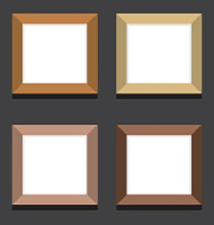Set Of Empty Square Picture Frames On Black vector image