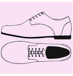 Shoes with shoelaces vector