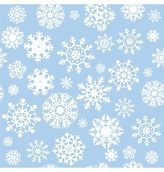 Snowflakes seamless background vector