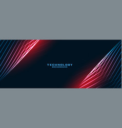Stylish technology lines particles background vector