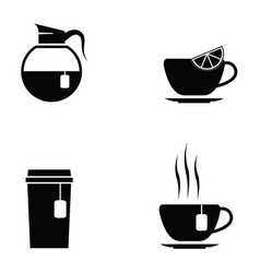 Tea icon set vector