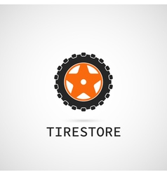 tire store logo template vector image
