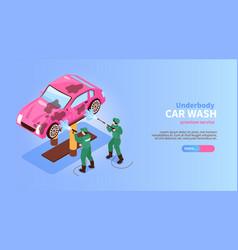 underbody car wash banner vector image