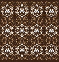 unique flower pattern design on central java batik vector image