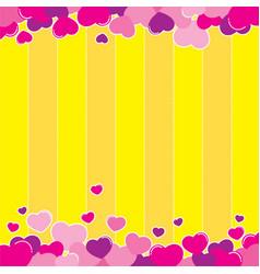 valentine yellow background design vector image