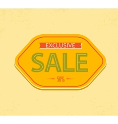 vintage sale label vector image