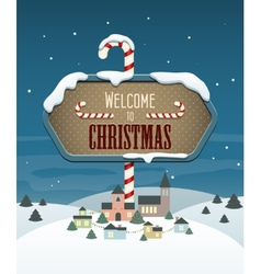 Welcome to Christmas vector