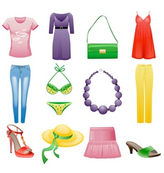 womens clothes and accessories vector image