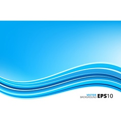 Blue and white waves package background vector image vector image