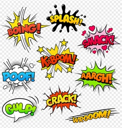 Comic Sounds set2 vector image