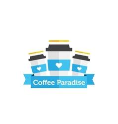 flat coffee shop or cafe logo vector image vector image