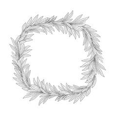 floral frame summer leaves flourish border lush vector image vector image