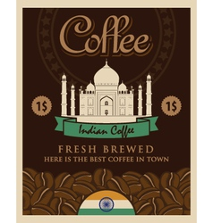Indian coffee vector image vector image
