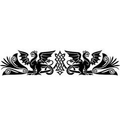 Medieval Celtic pattern vector image