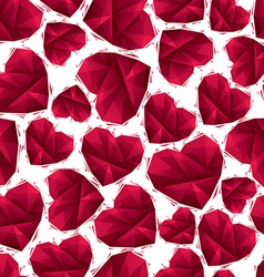 Red hearts seamless pattern geometric contemporary vector image vector image