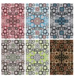 retro patterns vector image vector image
