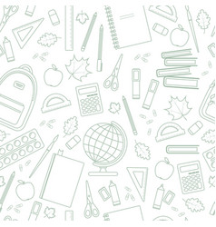 seamless linear school pattern vector image