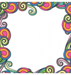 swirl retro frame vector image vector image