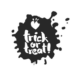 Trick or treat in an ink blot vector
