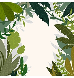 tropical jungle background with palm trees vector image
