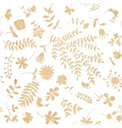 Vintage floral seamless pattern for your design vector image