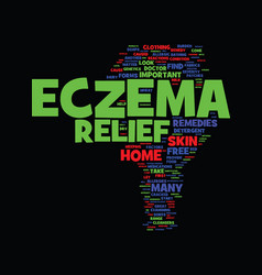 Methods that aid in eczema relief text background vector