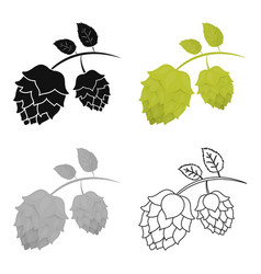 hops icon in cartoon style isolated on white vector image vector image