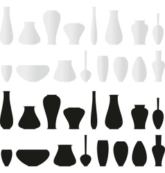 isolated set of vases vector image