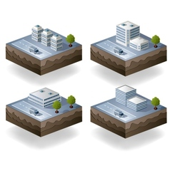 Set of icons isometric vector image