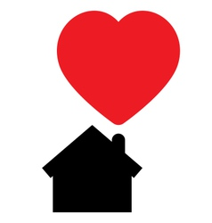 Home full of love concept icon vector image