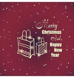 New Year And Xmas Badge 2 vector image