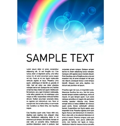 Sky with Rainbow Scene vector image vector image