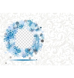 Winter frame with place for your photo vector image vector image