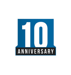 10th anniversary icon birthday logo vector image