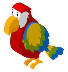 3d design for colorful parrot vector image
