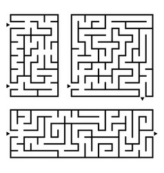 A set of square and rectangular labyrinths with vector