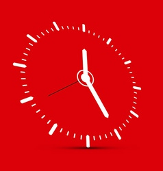Abstract Clock on Red Background vector