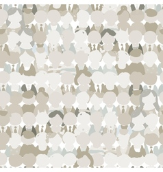 Abstract crowd of peoples seamless pattern for vector image