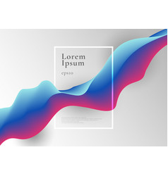 abstract trendy blue and pink gradient fluid flow vector image