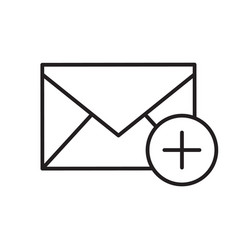 Add email linear icon vector
